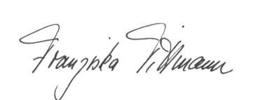 Unterschrift Franziska Tittmann